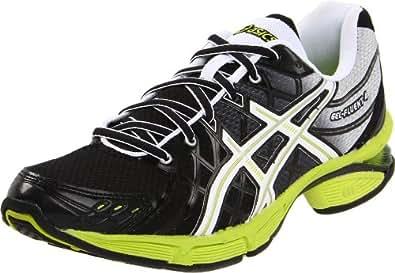 ASICS Men's GEL-Fluent 4 Running Shoe,Onyx/White/Limeade,11.5 M US