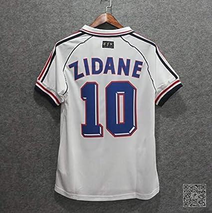e69820680 Amazon.com   Retro Zidane 10 France Away Soccer Jersey 1998   Sports ...
