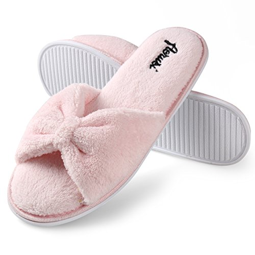 Women's Pink Thong Magenta Bedroom Splash Aerusi Slipper Spa Love Heart Home wSTEFT
