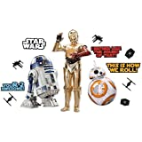 Eureka Star Wars Classroom Decorations Bulletin Board Paper Set, 15pc, Star Wars Droids (847633)