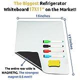 Magnetic White Board for Fridge, Dry Erase Reminder