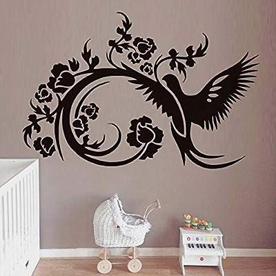 Apliques Hermosas flores tatuajes de pared de vinilo removible ...