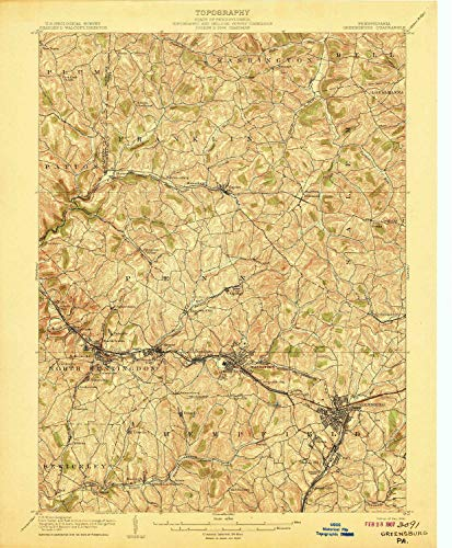 g PA topo map, 1:62500 Scale, 15 X 15 Minute, Historical, 1906, Updated 1906, 20 x 16.5 in - Paper ()