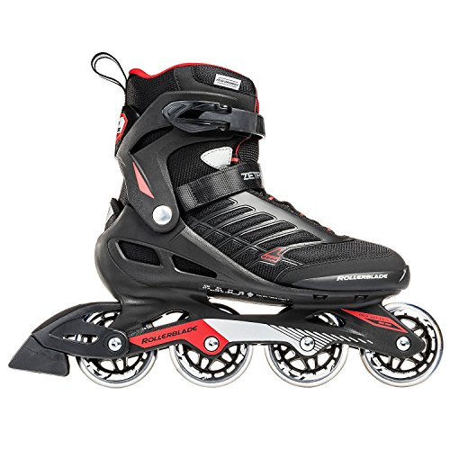 Rollerblade Zetrablade  Skate - 4x80mm/84A Wheels - SG 5 Performance Bearings - Black/Red  - US Men's 11 (29.0)