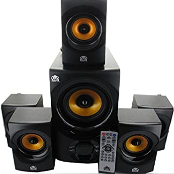 bcca9f591bb Acoustic Audio AA5170 Home Theater 5.1 Bluetooth Speaker System with FM and  5 Extension Cables