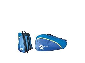 Softee 0014015 Paletero de pádel, Unisex Adulto, Azul/Amarillo, Talla Única: Amazon.es: Deportes y aire libre
