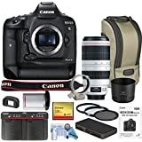 Canon EOS-1DX Mark II DSLR Camera w/Canon EF 100-400mm f/4.5-5.6L IS II USM Lens Bundle