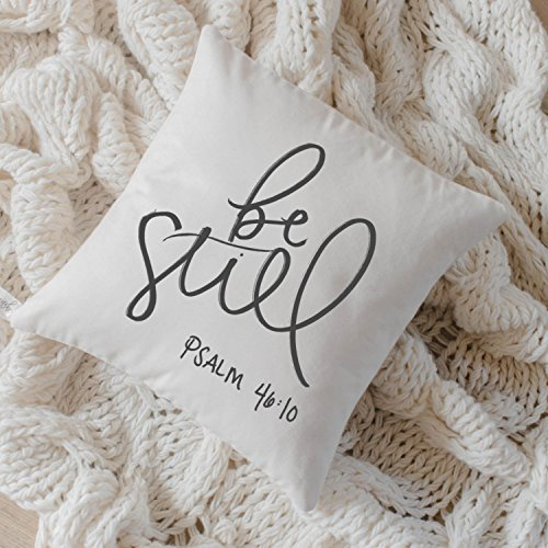 Pillow Cover - Be Still, home decor, present, housewarming gift, cushion cover, throw pillow, cushion, pillow case