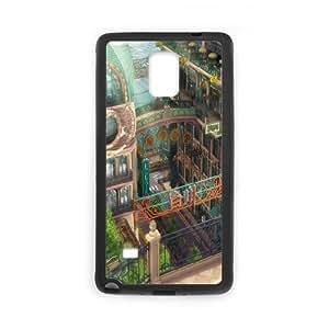 Nuktoe City Samsung Galaxy Note 4 Case Beautiful City for Teen Girls, Phone Case for Samsung Galaxy Note 4, {Black}