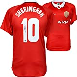 Teddy Sheringham Manchester United Autographed Red Jersey - ICONS - Fanatics Authentic Certified - Autographed Soccer Jerseys