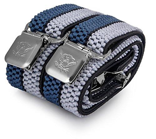Les Bleu Avec Argent Noir Couleurs Toutes Bretelles Taille 4 Pour Clips Forme Fortes Hommes Pour Decalen Unique Longue X 1Bq6wRA