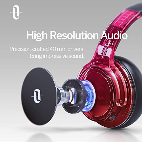 TaoTronics Active Noise Cancelling Bluetooth Headphones HiFi Stereo Wireless Over Ear Deep Bass Headset w CVC Noise Canceling Microphone 30 Hour Playtime