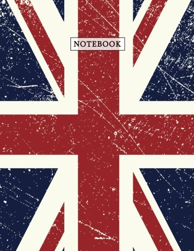 Notebook: Very British Union Jack Composition Book | UK Flag Patriotism & Pride Small Squares Graph Paper (5 x 5) Journal Notebook for Math and ... 11) Soft Matte Cover (Country Flag Notebooks) (Flag Union Jack History)