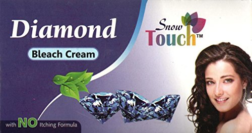 Diamond Bleach Cream, 300gm. With No Itching Formula by Snow Touch