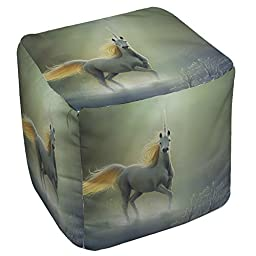 Beautiful Art Touch by the Aurora Square Polyester Ottoman