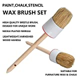 2PK Chalk and Wax Paint Brush, Natural Bristle