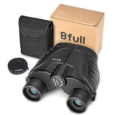 BFULL 12 x 50 Binoculars for Adults Kids, Compact Binocular Folding Durable Binoculars Stargazing for Bird Watching Children Sporting Game (Black) +Carrying case+Strap