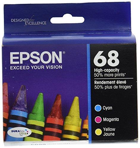 68 ink Genuine OEM  plus black-All 4 color including black Workforce 500, 600, 610, 615 - Epson T068520