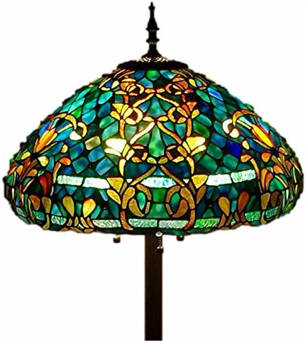 Wind Weather Stained Glass Butterfly Lamp – 16 Dia. x 24 H