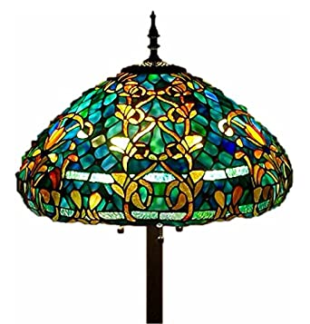 Tiffany style stained glass floor lamp azure sea amazon aloadofball Image collections