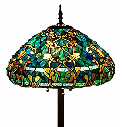 Tiffany Style Stained Glass Floor Lamp
