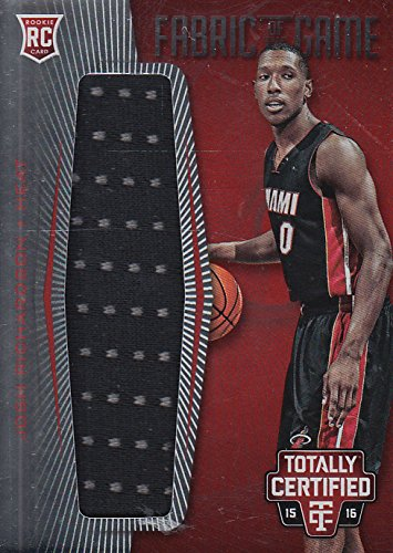 2015-16 Totally Certified Rookie Fabric of Game Jersey Red Josh Richardson/199