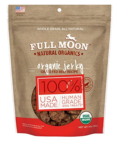 Full Moon Organic Dog Treats, Human Grade Beef Jerky, 14 Ounce