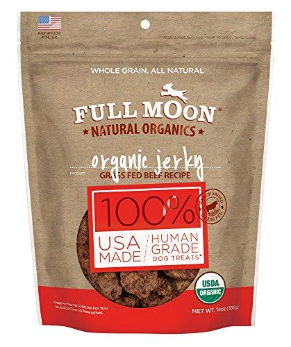 - Full Moon Organic Dog Treats, Human Grade Beef Jerky, 14 Ounce