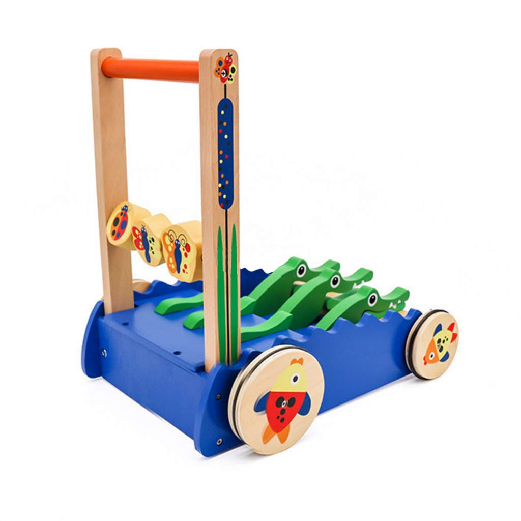 Meen Baby Walker,New Wooden Children's Multi-Function Anti-Rollover Toddler Push Push Walking Learning Toys