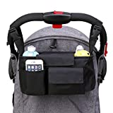 Image of DYSONGO Stroller Organizer for Moms, Universal Fit Baby Pram Hanging Storage Bag for Diapers、Toys、Wallets、iphones, Best Gifts for Baby (Black)