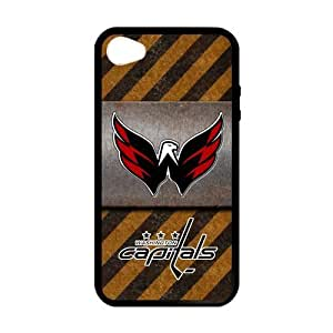 Custom Unique Design NHL Washington Capitals Iphone 4 4S Silicone Case