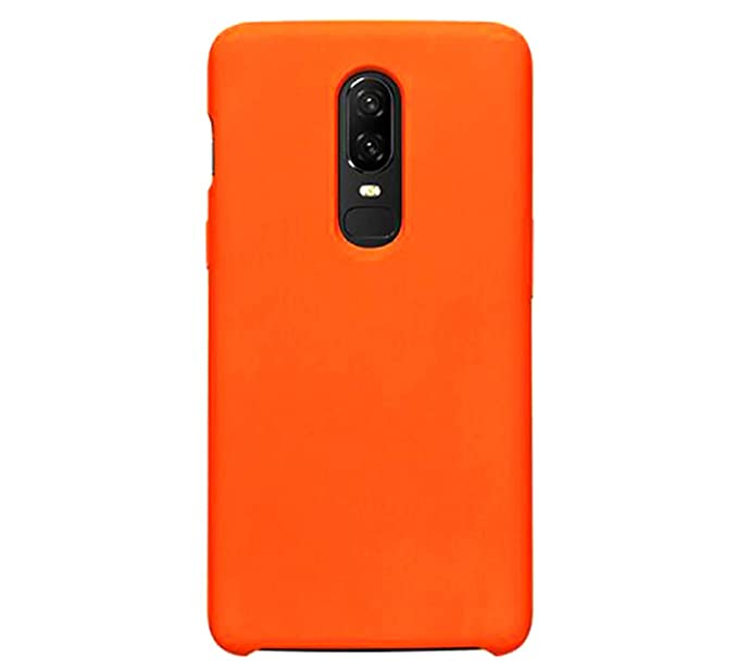 buy online a23e4 cbefc Case Compatible with OnePlus 6T Case Flexible TPU Silicone Multicolored  Bumper Cover for OnePlus 6 Protection (Orange, OnePlus 6T)