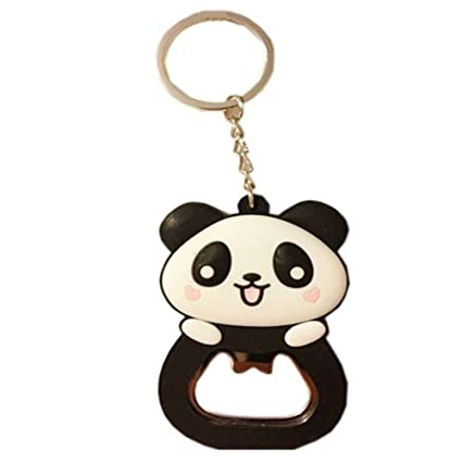 Amazon.com: kangkang @ Cute Panda abrebotellas llavero ...