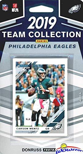 2019 Eagle - Philadelphia Eagles 2019 Donruss NFL Football Limited Edition 11 Card Complete Factory Sealed Team Set with Carson Wentz, Jordan Howard, Randall Cunningham & Many More Stars & Rookies! WOWZZER!