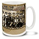 Texas Rangers Original Homeland Security - 15 oz Large Ceramic Coffee Mug VIVID FULL-COLOR …
