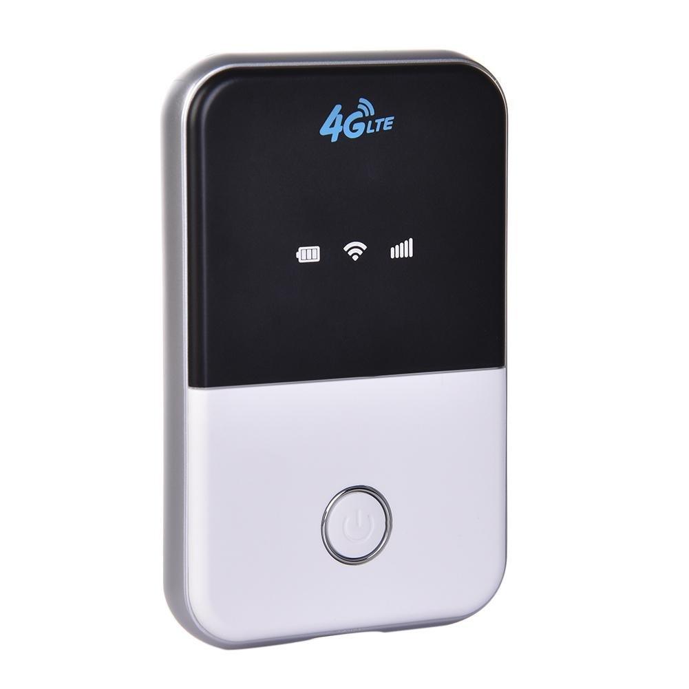 likeitwell Enrutador 4G MiFi Mó vil - 100 / 50Mbps Enrutador del Coche 4G WiFi, Enrutador de Viaje Soporte de Punto de Acceso WiFi mó vil de LTE 4G B1 / B3 hasta 10 usuarios de WiFi, Soporte Inglé s Soporte Inglés