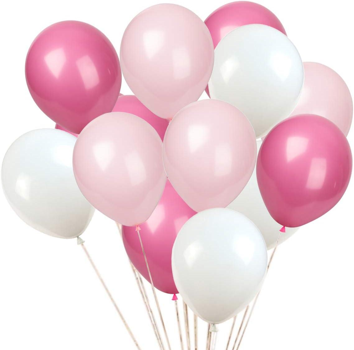 Amazon.com: KADBANER Latex Balloon 100 pcs 12 inch : White and ...