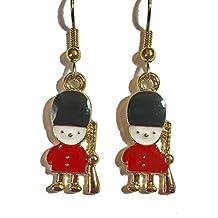 Mini British London Palace Guard Dangle Earrings (D084)