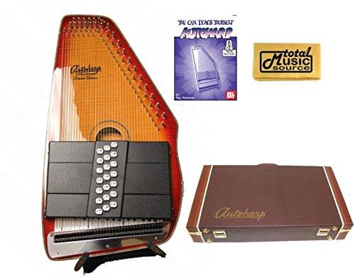 Oscar Schmidt 21 Chord A/E Autoharp, Flame Maple Top, Honey Sunburst OS11021FHSE (Honey Maple Top Sunburst)