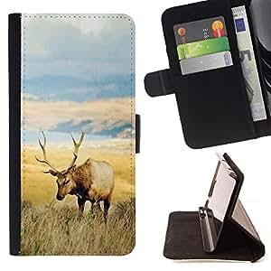 Momo Phone Case / Flip Funda de Cuero Case Cover - El campo de los ciervos;;;;;;;; - HTC One A9