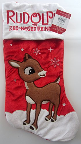 Rudolph the Red Nosed Reindeer Christmas Stocking - Musical Christmas Stocking