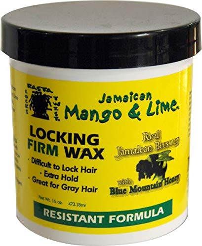 Jamaican Mango & Lime Locking Firm Hair Wax Extra Hold With Real Beeswax & Honey, 16 Oz (Best Locking Gel For Dreads)