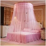 POPPAP-Bed-Curtains-Canopy-for-Girls-Kids-Round-Dome-Romantic-Bedframes-Canopy-Pink-Color-Large-Size-Bedroom-Decor-Dream-Tent