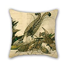 Oil Painting Neville Cayley - Not Titled (Australian Gamebirds) Pillowcover Best For Kids Room Bedding Pub Bedding Couples Outdoor 20 X 20 Inches / 50 By 50 Cm(two Sides)