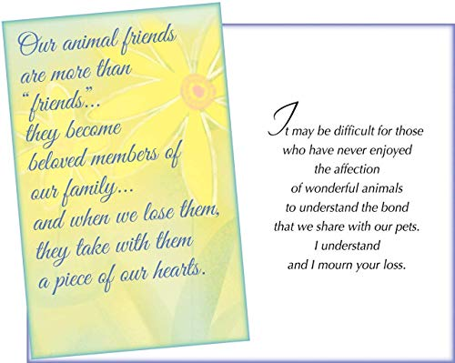 - Prime Greetings Sympathy Loss of Pet Card. For Dog, Cat, Horse or Any Pet Loss Full Size Card 5 x 7.75