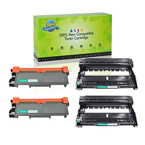 NineLeaf Toner Cartridge and Drum Unit Replacement Combo Compatible for Brother TN660 TN630 DR630 HL-L2315DW HL-L2380D MFC-L2685DW MFC-L2740DW Printer (2 Drum + 2 Toner) -  NineLeaf Tech, QNL-AMA004-TN660-2PK+DR630-2PK