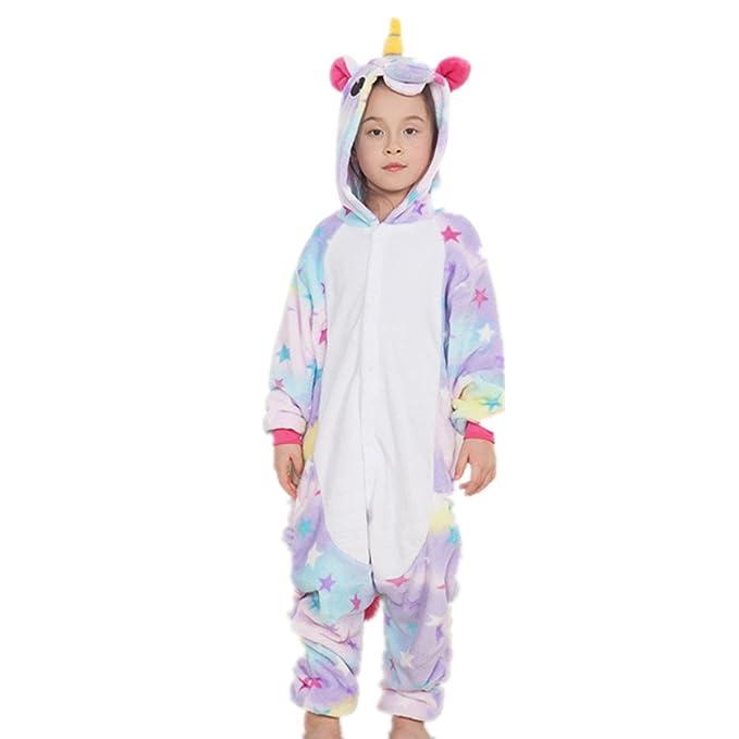 Misslight pijama o disfraz de unicornio unisex para niño o adulto Multicolor enfants Star