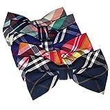 Ravenhill Premium Adjustable Neck Tie Bowties 5-pack (Plaid)