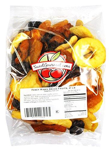 Fancy Mixed Dried Fruits, (2 lb Mixed Fruits)