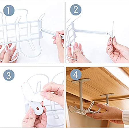 Organizador de Cables para la gesti/ón de Cables Bandeja para Cables de Metal para Oficina y hogar Modaily Bandeja de gesti/ón de Cables Debajo del Escritorio